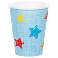Parti Yıldızı - 1 Olmak Eğlenceli Mavi 8 li Bardak