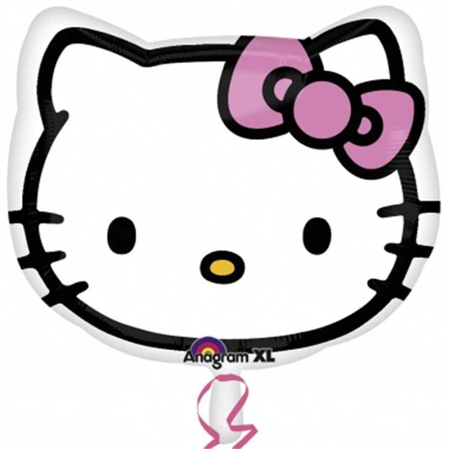 18 Hello Kitty Kafa Seklinde Folyo Balon Folyo Balonlar Parti Yildizi