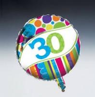 Parti Yıldızı - 30 Yaş Folyo Balon