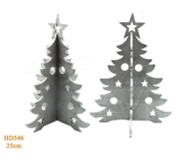Parti Yıldızı - 3D Ahşap Çam Ağacı Küçük Boy