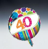 Parti Yıldızı - 40 Yaş Folyo Balon