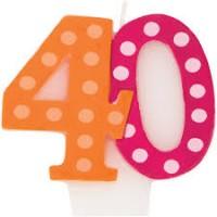 Parti Yıldızı - 40 Yaş Puanlı Mum