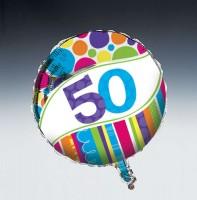 Parti Yıldızı - 50 Yaş Folyo Balon