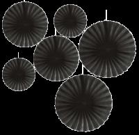 Parti Yıldızı - 6 lı Siyah Yelpaze