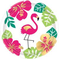 AMSCAN - Aloha Partisi Küçük Tabak 8 Adet