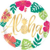 AMSCAN - Aloha Partisi Tabak 8 Adet