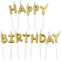 Parti Yıldızı - Mum - Happy Birthday Altın Renk
