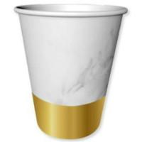 BALONEVI - Altın Varaklı Mermer Desenli Bardak 6 Adet