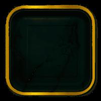 BALONEVI - Altın Varaklı Mermer Desenli Kare Tabak 6 Adet