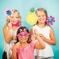 Parti Yıldızı - Ananas, Flamingo Fotoğraf Aksesuarları 10 Adet