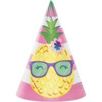 Parti Yıldızı - Ananas, Flamingo ve Arkadaşları Şapka 8 Adet