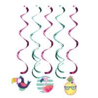 Parti Yıldızı - Ananas, Flamingo ve Arkadaşları Süs Dalgası 5 Adet