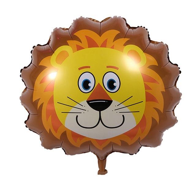 Aslan Kafası 24 Folyo Balon Safari Macerası Parti Yıldızı
