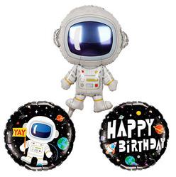 Astronot Balon Seti Folyo Balonlar Parti Yildizi