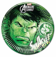 Parti Yıldızı - Avengers Hulk Karton Tabak 8 Adet