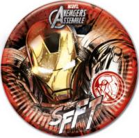 Parti Yıldızı - Avengers Ironman Karton Tabak 8 Adet
