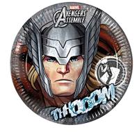 Parti Yıldızı - Avengers Thor Karton Tabak 8 Adet