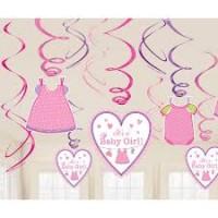 Parti Yıldızı - Baby Girl Süs Dalgaları 12 Adet