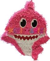 Parti Yıldızı - Baby Shark Şekilli Pinyata Pembe Renk