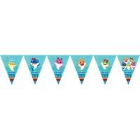 Parti Yıldızı - Baby Shark Üçgen Bayrak Afiş