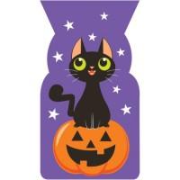 Parti Yıldızı - Balkabağı veKara Kedi Kilitli Şeker Poşeti 20 Adet