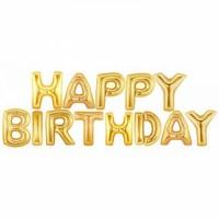 Parti Yıldızı - Balon Seti Gold Happy Birthday
