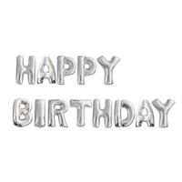 Parti Yıldızı - Balon Seti Gümüş Happy Birthday