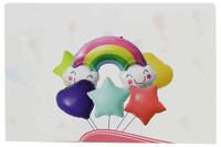 Parti Yıldızı - Balon Seti Makaron Gökkuşağı Folyo Balon Seti 6lı