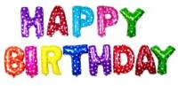 Parti Yıldızı - Balon Seti Renkli Happy Birthday