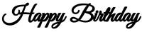 Parti Yıldızı - Balon Yazısı - Happy Birthday