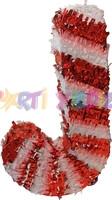 Parti Yıldızı - Baston Şeker Şekilli Pinyata