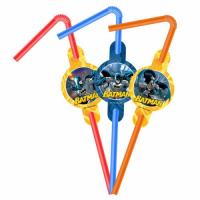 Parti Yıldızı - Batman 6 lı Pipet