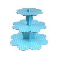 Parti Yıldızı - Bebek Mavi Cup Cake Standı