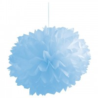 Parti Yıldızı - Bebek Mavisi 3 lü Ponpon Çiçek