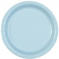 Parti Yıldızı - Bebek Mavisi 8 li Tabak