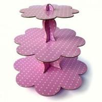 Parti Yıldızı - Bebek Pembe Cup Cake Standı
