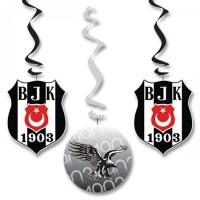 Parti Yıldızı - Beşiktaş 3 lü Asma Süs