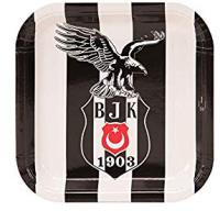 Parti Yıldızı - Beşiktaş Kare Tabak 8 li