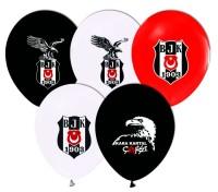 Parti Yıldızı - Beşiktaş Temalı 6 lı Latex Balon
