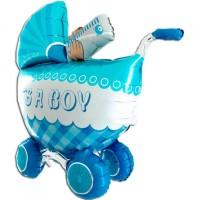 Parti Yıldızı - Biberonlu Puset Mavi 3D