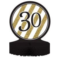 Parti Yıldızı - Black & Gold 30 Yaş Masa Orta Süsü