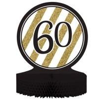 Parti Yıldızı - Black & Gold 60 Yaş Masa Orta Süsü