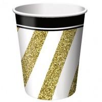 Parti Yıldızı - Black & Gold 8 li Bardak