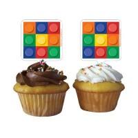 Parti Yıldızı - Block Parti 12 Li Cupcake kürdanı