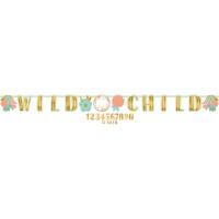 AMSCAN - Boho Partisi Wild Child Harf Afiş 320 x 25.4 cm