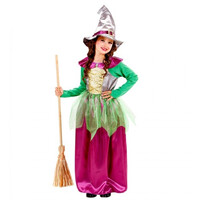 Parti Yıldızı - Cadı Kostümü Mor - Yeşil 11-13 Yaş