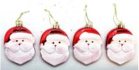 Parti Yıldızı - Çam Ağacı Süsü Noel Baba 4Lü