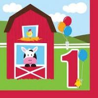 Parti Yıldızı - Çiftlik Evi 1 Yaş 16 lı Peçete