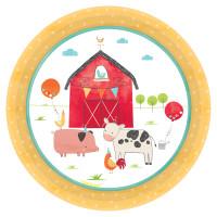 AMSCAN - Çiftlik Partisi Küçük Tabak 8 Adet