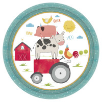 AMSCAN - Çiftlik Partisi Tabak 8 Adet